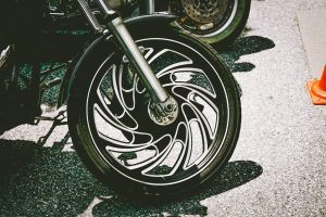 Photo of a Harley-Davidson motorcycle tire